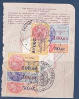 France,fiscaux, Affaires Etrangeres,  N°38+39+40 X2 Sur Feuillet De Passeport,MAJUNGA Et TANANARIVE,(FXAE/023) - Steuermarken
