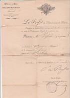 CANTON DE SARCEY RHONE -NOMINATION PAR LE PREFET DE L'ADJOINT AU MAIRE MR FRANCOIS VIFSOUD- 1826 - Manuscripts