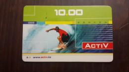 Kazakhstan-activ Prepiad Card 10units-3/2004-used+1card Prepiad Free
