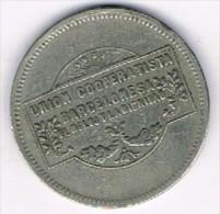 Moneda Cooperativa El Reloj Y La Dignidad, Barcelona 5 Pts - Profesionales/De Sociedad