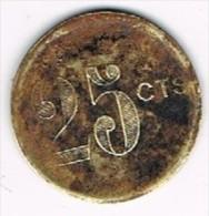 Moneda Cooperativa Barcelonesa, BARCELONA, 25 Cts - Profesionales/De Sociedad