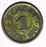 Moneda  Ficha 1 Pta Mercat De POBLE NOU (barcelona). Republica - Profesionales/De Sociedad