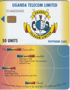 UGANDA(chip) - The Affordable Connection(50 Units), Uganda Telecom Ltd(UTL) Telecard 50 Units, Used