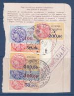 France,fiscaux, Affaires Etrangeres,  N°38+39+40 X2 Sur Feuillet De Passeport,MAJUNGA Et TANANARIVE,(FXAE/035) - Revenue Stamps