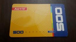 Kazakhstan-activ Prepiad Card 500units-used Card+1card Prepiad Free