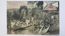 COTE D´IVOIRE Voyage Du MINISTRE Des Colonies BINGERVILLE Arrivee Du Wharf CPA Animee Postcard - Ivory Coast