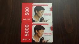Kazakhstan-activ Prepiad Card 500,5000-(2card)units-used Card+1card Prepiad Free
