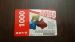 Kazakhstan-activ Prepia Card-1000-mint+1card Prepiad Free