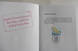Livret De Bord Philatélique N° 190 ::1 Er Jour Maxi Ketch La Poste Whitbread 1993-94 - Non Classés