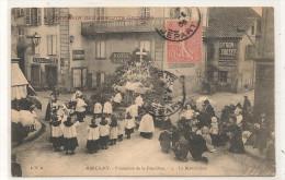 Marcigny - Procession De La Fete Dieu -  Pub Biscuits Georges  - CPA° JPP - Unclassified