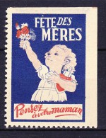 FRANCE 1950 VIGNETTE FETE DES MERES - PENSEZ A VOTRE MAMAN ** - Autres