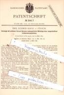 Original Patent  -   Emil Schmid - Kerez In Zürich , 1884 , Dachziegel Mit Falz , Dachdecker , Dach !!! - Documents Historiques