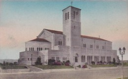 California Los Angeles Saint Paul's Church Washington And Bronson Handcolored Albertype