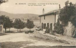 Belle    Cpa -  Hendaye -  La Descente De La Rue Du Port , Vue Sur Fontarrabie   ,animée        AH1157 - Hendaye