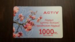 Kazakhstan-activ Prepiad Card-1000-mint+1card Prepiad Free