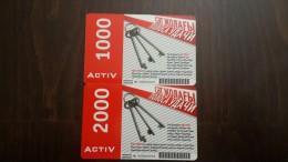 Kazakhstan-activ Prepiad Card-(1000,2000)-(2cards)-used+1card Prepiad Free