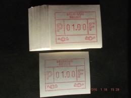 Groot Formaat F/N. La Louvière. 50X Op C Papier. - Automatenmarken (ATM)