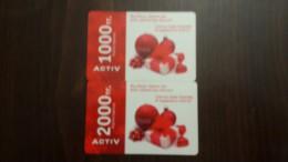 Kazakhstan- Activ Prepiad Card-(1000,2000)-(2cards)-mint Cards+2card Prepiad Free