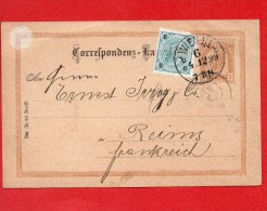 Champagne-1899-Courrier Commerciale De ROTTER & PERSCHITZ -Wien Pour ERNEST IRROY&Cie-Reims-France - Autriche