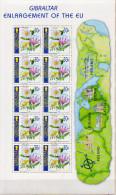 Gibraltar MNH Enlargement Of The EU, Flowers Sheetlets - Pflanzen Und Botanik