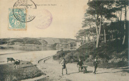 Belle    Cpa -    Rotheneuf -  Plage Et Bois Du Lupin ,animée          AH1163 - Rotheneuf