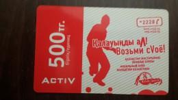 Kazakhstan-activ Prepiad Card-(500)-mint Card+1card Prepiad Free
