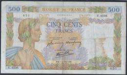 F-EX.1771 BANQUE DE FRANCE 500fr 1942. - 1871-1952 Circulated During XXth