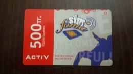 Kazakhstan-activ Prepiad Card-(500-mint)-+card Prepiad Free