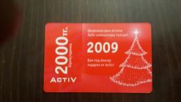 Kazakhstan-activ Prepiad Card-(2000units)-mint+1card Prepiad Free