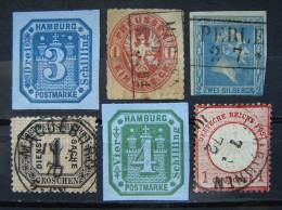 Altdeutschland - Mix 1858 - 68 Aus. Mi.Nr.1 - 16 Kat.48,-   Gestempelt    (B264) - Allemagne