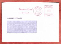 Briefdrucksache, Francotyp-Postalia F21-3529, Dachdecker-Einkauf Luebeck, 80 Pfg, 1991 (27846) - BRD