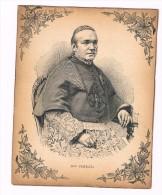Ancienne Petite Gravure - Litho-  MONSEIGNEUR  FERRATA  - Vieux Papiers -- Portraits - Detail - Godsdienst & Esoterisme