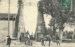 Grenoble Entree Du Pont Suspendu Sur Le Drac A Fontaine - Grenoble