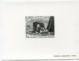 """T. A. A. F. EPREUVE DE LUXE DU PA 59 LE VOILIER """"LE TERROR"""" A ARCHED ROCK KERGUELEN 1840 - Imperforates, Proofs & Errors"""
