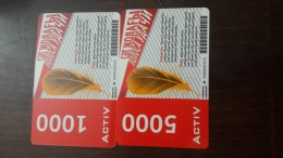 Kazakhstan-activ Prepiad Card-(1000,5000)-(2card)-used+1card Prepiad Free