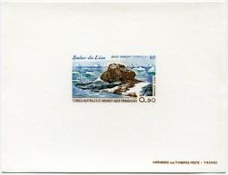 T. A. A. F. EPREUVE DE LUXE DU PA 57 LE ROCHER DU LION BASE DUMONT D'URVILLE - Imperforates, Proofs & Errors