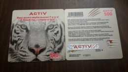 Kazakhstan-activ Prepiad Card-(500)-mint Card+1card Prepiad Free - Kazakhstan