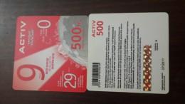 Kazakhstan-activ Prepiad Card-(500)-(1card)-mint+1card Prepiad Free