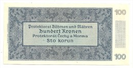 Bohemia & Moravia 100 Korun 1940 Ii Auflage AUNC - Czechoslovakia