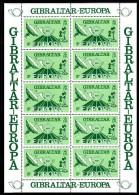 Gibraltar MNH Scott #382-#384 Set Of 3 Minisheets Of 10 Satellite, Posthorn, Telephone - EUROPA - Gibraltar