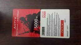 Kazakhstan-activ Prepiad Card-(5000)-mint+1card Prepiad Free