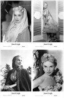JANET LEIGH - Film Star Pin Up - Publisher Swiftsure Postcards 2000 SET 101-04 - Artiesten