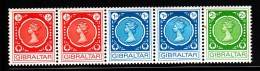 Gibraltar MH Scott #275a Strip Of 5 Elizabeth II - Coils - Gibraltar