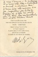 Carte Autographiée De Monseigneur BOYER - MAS,  Adressée Au Colonel REMY - Autographes