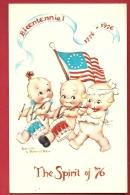 PBQ-05 Bicentennial 1776-1976  Great American Revolution. The Spirit Of 76. Babyes Playind Drum. Not Used - Umoristiche