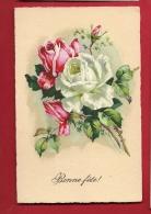 PBQ-12  Bonne Fête. Bouquet De Roses. C. Klein ??? Non Signé. Cachet Militaire - Fiori, Piante & Alberi