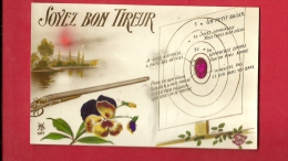 PBQ-25  Soyons Bon Tireur, Cible D'Amour, Carabine, Fleurs, Fantaisie. Non Circulé - Fancy Cards