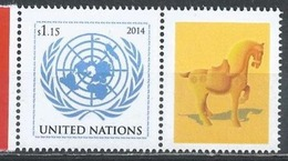 UN-New York. Scott # 1079  MNH Personalized With Label. Year Of The Horse. 2014 - New-York - Siège De L'ONU