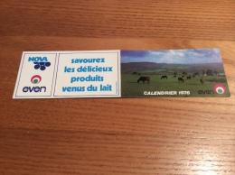 "Calendrier 1976 ""even NOVA (vache, Bretagne)"" (5,5x21cm) - Klein Formaat: 1971-80"