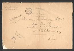 Grande Env. Service De La Trésorerie Et Des Postes Aus Armées, 7ème Corps Quartier Général Le Payeur Principal - Marcophilie (Lettres)